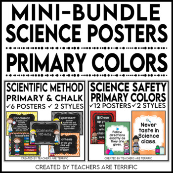 Science Poster Mini Bundle - in Primary Colors