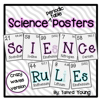 Science Posters {Crazy Waves}