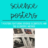 Science Posters Featuring Diverse Scientists and the Scien