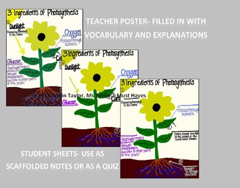 Science Poster Package & Worksheets (for 3rd,4th,&5th grade)