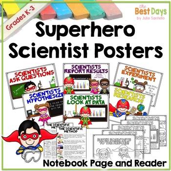 Science Posters:  Superhero / Super Hero Scientists