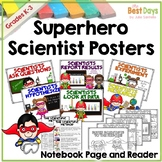 Science Posters:  Superhero / Super Hero Scientists