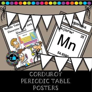 Science Posters- The Periodic Table-Brown Corduroy Design
