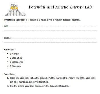 Science Potential and Kinetic Energy Lab