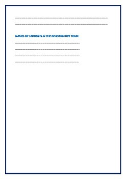 Science Practical or Laboratory Report format