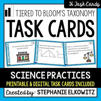 Science Practices & Scientific Method Task Cards (Differen