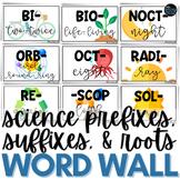 Science Prefix & Suffix Word Wall