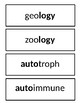 Science Prefix and Suffix