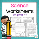 Science Process Worksheets
