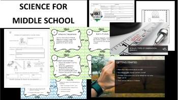 Science Process Growing Bundle For Middle School