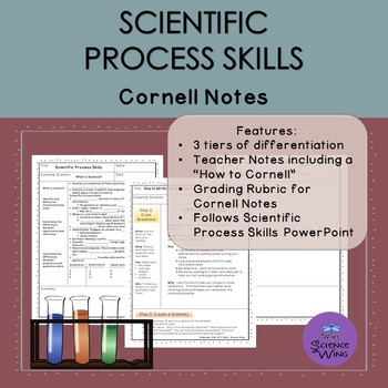 Science Process Skills Cornell Notes- Differentiated