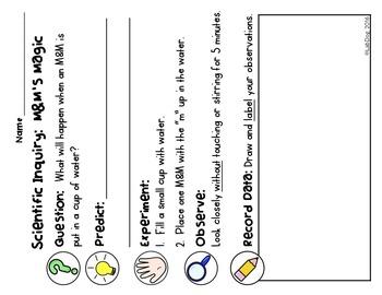 Science Process Skills Experiment:  M&M Magic Freebie