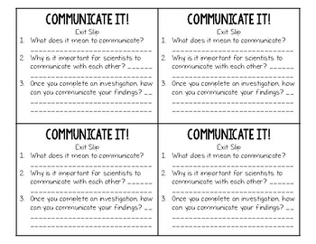 Science Process Skills Mini Lesson: Communicate