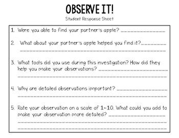 Science Process Skills Mini Lesson: Observe