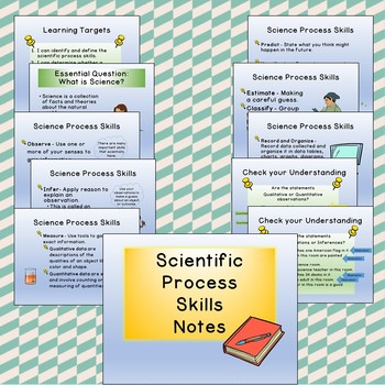 Science Process Skills PowerPoint Notes