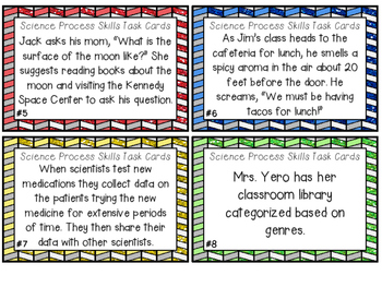 Science Process Skills Task Cards *PERFECT FOR ROTATIONS*