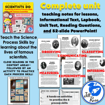 Science Process Skills Unit, Hands-on, and Lapbook {Doing What Scientists Do}