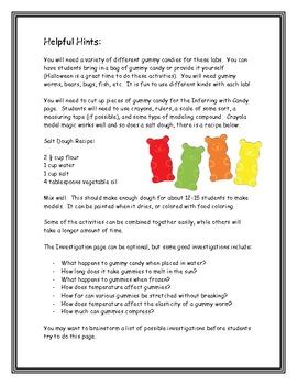 Science Process Skills Using Gummy Candies