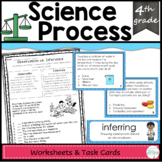 Science Process Task Cards, Vocabulary, and Worksheets