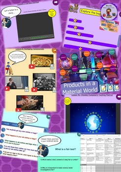 Science Products in a Material World Smart Notebook and Un