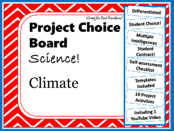 Science Project Choice Board: Climate- 10 Projects