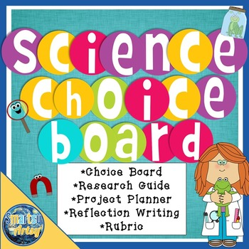 Science Project Choice Board Packet with Research Guide an