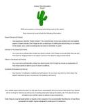 "Science Project - Desert Habitat ""Travel Commercial"""