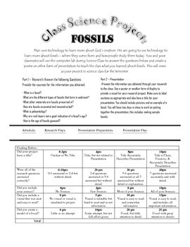 Science Project: Fossils