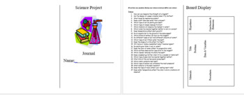 Science Project Journal Booklet