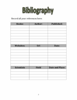 Science Project Log Book