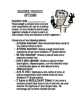 Science Project Options