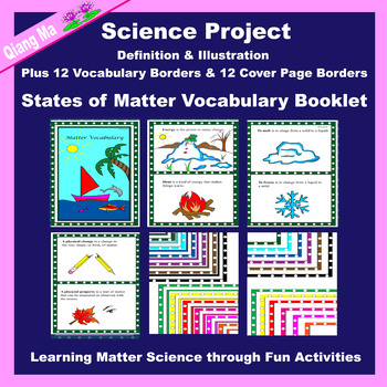 Science Project: States of Matter Vocabulary Booklet