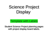 Science Project Planning/Display Pages w/Labels