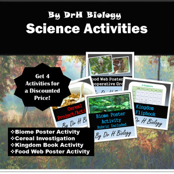 Biology Projects and Activities: Bundle of 4!