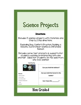 Science Projects for Social Skills Groups PDF