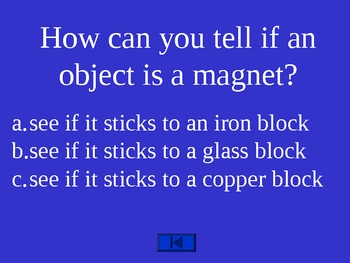 Science: Properties of Magnets Trivia Game