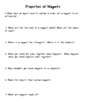 Science: Properties of Magnets Worksheet