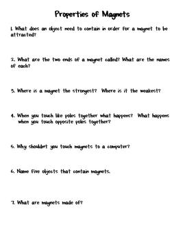 Workbooks » Magnets Worksheets - Printable Worksheets Guide for ...