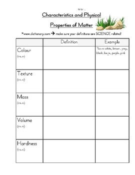Properties Of Matter Worksheets | Teachers Pay Teachers