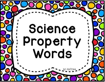 Science Property Words