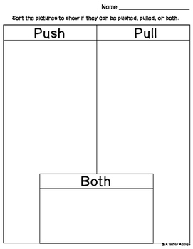 Science Push Pull Sort