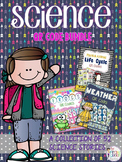 Science QR Code Bundle: Life Cycle, Frogs, and Weather Stories