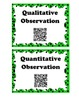 Science QR Word Wall ~Observation & Inferences~
