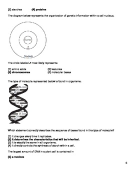 High School Biology Question Bank - Heredity & Genetics