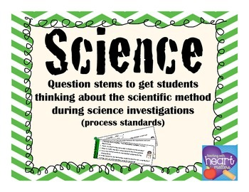 Science Question Stems to get students thinking about scientific method
