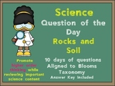 Science Question of the Day- Rocks and Soil for 3rd Grade