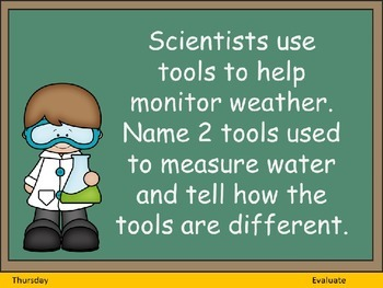 Science Question of the Day- Weather for 3rd Grade
