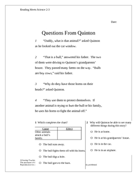 Science Questions in Science Grades 2-3