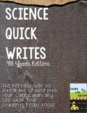 Science Quick Writes: 4th Grade Edition