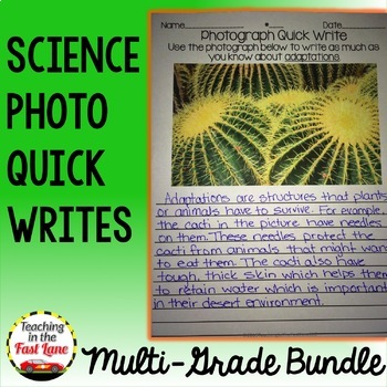 Science Quick Writes Multi-Grade Bundle